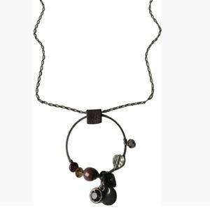 🇨🇦  Moon C Paris long pewter necklace